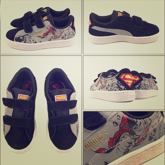 the latest 8efc6 0d906 NWT - Puma Suede Superman 2V Kids Sneakers NWT